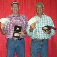 Caption: Chuck Kelly and Frank Fisher - MegaBucks Champions