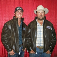 Caption: Cody Stahly and Lance Schuchard - Truck Roping Winners