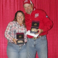 Caption: Cindy and Jim Wolfe - 7 Buckle Winners